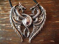 Anhänger Herz der Drachen Dragon's Heart Gothic de Luxe et Nox neu 925er Silber