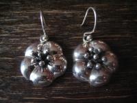 bezaubernde Blüten Ohrringe Hänger Chandeliers 925er Silber plastisch NEU Dirndl