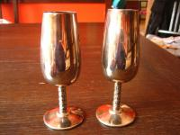 Candellight Dinner for Two 2 Stück Paar edle Silberkelche Sektkelche Sektgläser