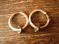 schöne Ohrringe Creolen 925er Sterling Silber Tigerauge Donut auswechselbar