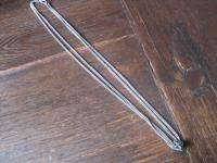 überlange Jugendstil Schieberkette Damen Uhrenkette 140 cm Kette Schieber silber