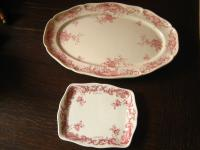 Konvolut Villeroy & Boch Valeria Rot große Servierplatte + Butterplatte Platte