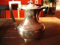 herrliche große Art Deco Teekanne Kaffeekanne Silberkanne silber pl Sheffield