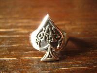 exklusiver Spieler Ring Ace of Spades Pik As et Nox Gothic 925er Silber RG 62