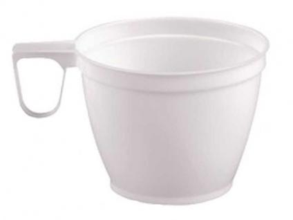 50 Kaffeetasse weiß 160ml Coffee Einweg Tassen Plastik Kaffee Tasse Becher