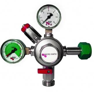 Micro Matic N2 Druckminderer Manometer Stickstoff Zapfanlage Hauptdruckminderer