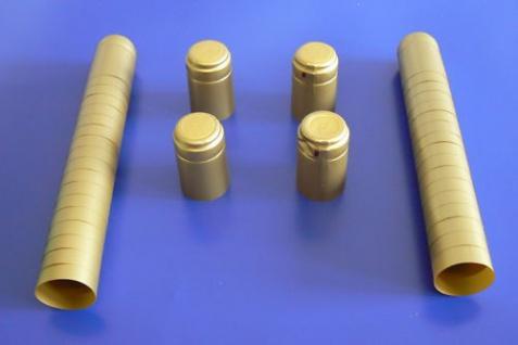 Schrumpfkapseln gold Kapseln für Weinkorken Korken 50 Stück