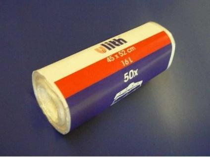 40x Müllbeutel weiß 60 L 63x85 cm Mülltüten Abfallbeutel Abfalltüten Liter