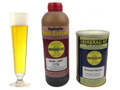 Brennecke Easy Kit Deutsch Pilsener untergärig 2, 7kg Malzextrakt gehopft Brauen