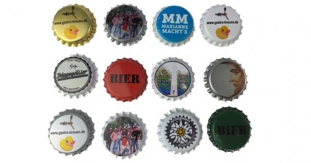 Kronkorken bedrucken lassen digital Druck für Hobbybrauer Bier selber brauen