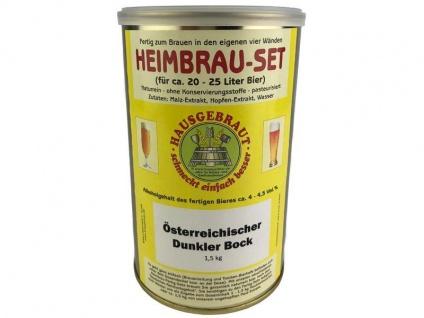 Malzextrakt Dunkel Bock Bier gehopft 1, 5 kg Braukit Bierkit brauen Hobbybrauer