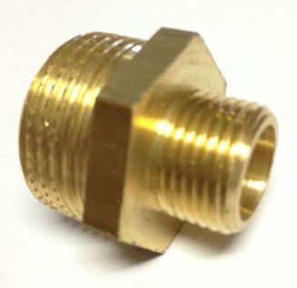 Doppelnippel Adapter 3/8 Zoll AG auf 3/4 Zoll AG Messing Außengewinde Verbinder