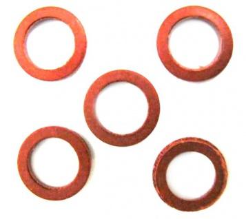 100 Dichtungen Vulkanfiberringe rot für Druckminderer Co2 Dichtung Redukter