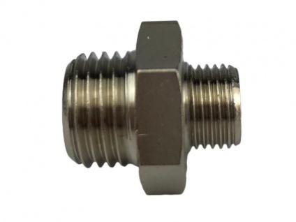 Doppelnippel Verbinder 1/8 Zoll AG auf 1/4 Zoll Außengewinde Adapter Messing
