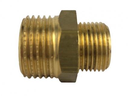 Doppelnippel Verbinder 1/2 Zoll AG auf 3/8 Zoll AG messing Adapter Außengewinde