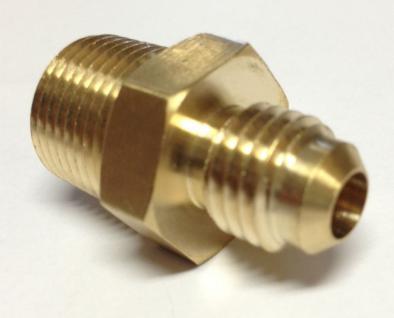 Doppelnippel Adapter 3/8 Zoll AG auf 1/2 Zoll BSF Coca AG Gewinde Messing