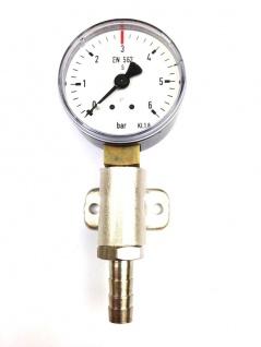 Kontrolluhr Manometer Kontrollmanometer 3 bar 7mm Bier Zapfanlage Co2 N2 Theke