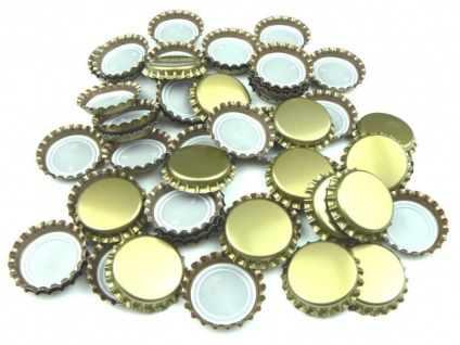 1000 Kronenkorken Kronkorken Neu 29mm gross GOLD Bier brauen Hobbybrauer