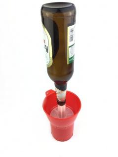 Flaschenspüler ROT 300ml einfach Flaschen ausspülen und desinfizieren