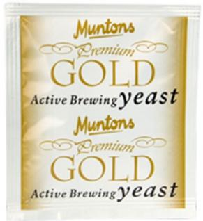 Muntons Gold 6g Bierhefe trocken obergärig zum Bier selber brauen Trockenhefe