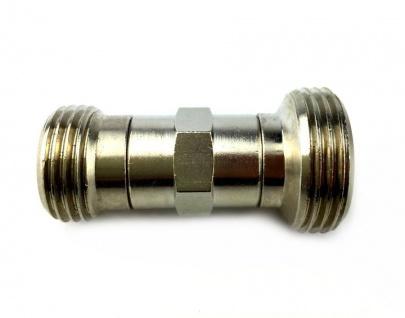 Adapter Reduzierstück Doppelnippel von 1/2 Zoll AG auf 3/4 Zoll AG Zapfanlage X