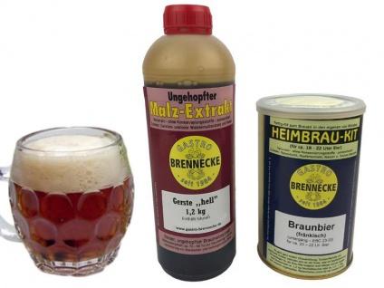 Brennecke Easy Kit Braunbier untergärig 2, 7kg Malzextrakt gehopft Bier Brauen