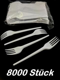 Einweg Gabeln 8000 Stück weiß gelegt 16, 5cm Besteck Einweggabeln Plastikgabeln