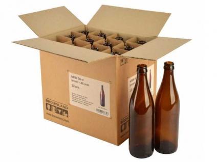 Bierflaschen NRW 50 cl, braun, 26 mm, Karton 12 Stück Bier selber brauen