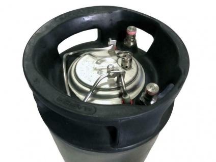 NC Keg Ball Lock Fass 9, 0 Liter gebraucht mit Deckel Produktbehälter Bierfass - Vorschau 2