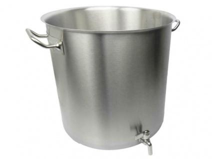 Brautopf 26 Liter aus Edelstahl mit Ablaßhahn Braukessel Topf Maischekessel