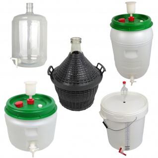 Maischeeimer Gärbehälter Gärballon Glasballon Läutereimer Eimer Gärbottich - Vorschau 1