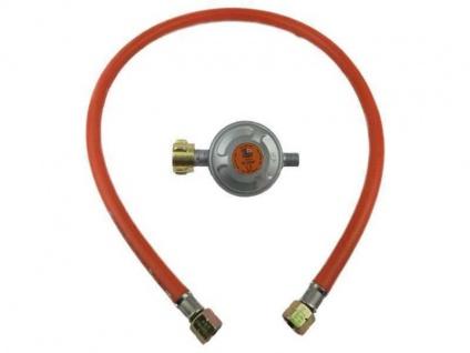 Gasbrennerset mit Gasschlauch 80cm + Druckregler 50mbar für Gasbrenner Gaskocher
