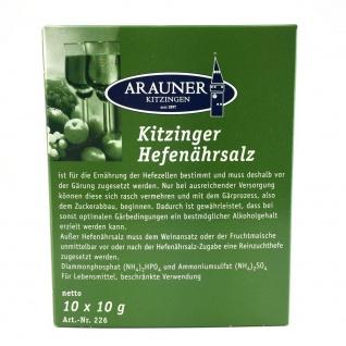 Arauner Kitzinger Hefenährsalz-Pulver groß 10x 10g zum Wein selber machen