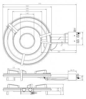 Gasbrenner Gaskocher TT-500 20, 29kw Ring Ø 50 cm für innen zum Bier brauen - Vorschau 2