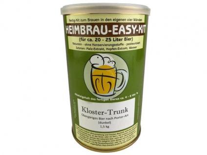 Malzextrakt Klostertrunk gehopft 1, 5 kg Braukit Bierkit Kloster Bier brauen