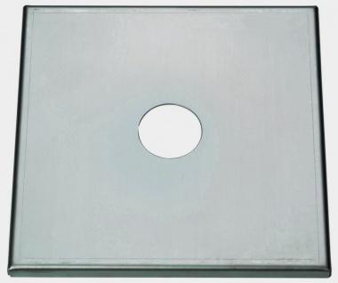 Abdeckplatte aus Edelstahl 22x22cm mit 60mm Ø Bohrung für Schanksäule Zapfsäule
