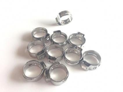 10x 8, 5-10, 5mm Schellen Klemmen Schlauchschellen für 4mm Bierschlauch Zapfanlage