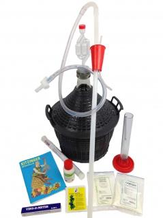 Starterset zum Wein selber machen mit Gärballon (gross) Set Weinset Geschenk - Vorschau 1