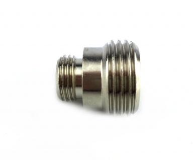 Adapter Reduzierstück Doppelnippel von 1/2 Zoll AG auf 1/4 Zoll AG Zapfanlage