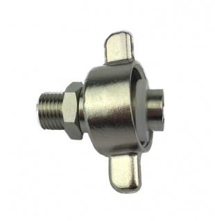 Adapter Reduzierstück von 1/4 Zoll AG auf 5/8 Zoll IG Druckminderer Zapfanlage X