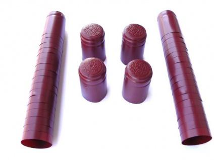 Schrumpfkapseln in dunkelrot Kapseln für Weinkorken Korken 50 Stück