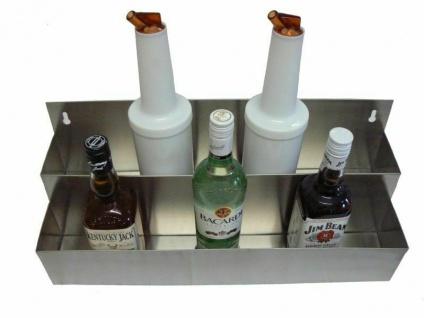 Speed Rack Flaschenregal Edelstahl Wand für 12 Flaschen Flaschenhalter Cocktails - Vorschau 2
