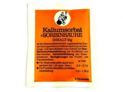 Arauner Kaliumsorbat 10g Sorbinsäure Konservierungsmittel zum Wein selber machen