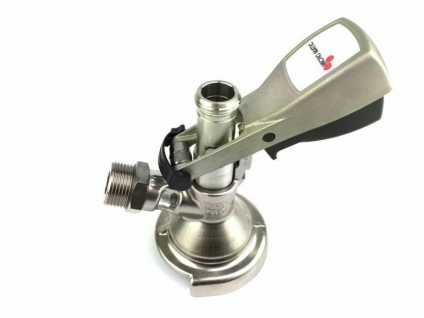 Flach Keg Zapfkopf Micro Matic für Zapfanlage Bier zapfen brauen