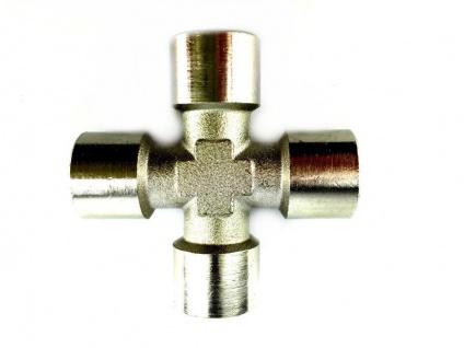 Kreuz-Stück 4x 1/4 Zoll Innengewinde Zapfanlage Druckminderer usw.