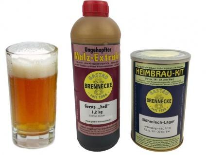 Brennecke Easy Kit Bömisch Lager untergärig 2, 7kg Malzextrakt gehopft Bier Braue