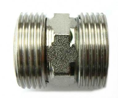 Adapter Doppelnippel 2x 3/4 Zoll AG für Zapfanlage Co2 Verbinder Außengewinde
