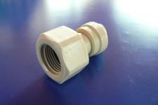 Anschluß 3/8 Zoll auf 5/16 Zoll 8mm Steckdorn DMfit Zapfanlage Schlauch 4x8
