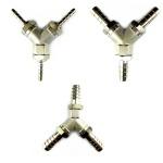 Y-Stück Metall mit 3x Tüllen in 4 7 oder 10 mm Schlauch-Verbinder Zapfanlage (X)