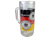 WM Fußball Glas Bierglas DFB mit Henkel 0, 3 Liter Deutschland